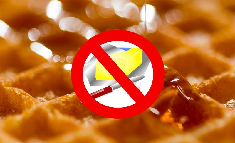 Recette gaufre sans beurre l g re variante sans lactose - Recette de gaufre sans beurre ...